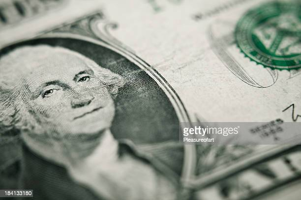 one dollar bill closeup - american one dollar bill stock pictures, royalty-free photos & images