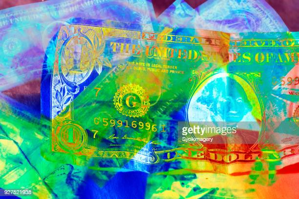us one dollar bill - pop art stock pictures, royalty-free photos & images