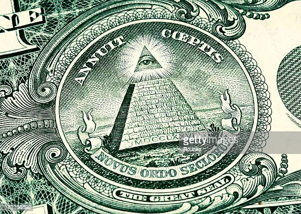 one dollar eye - american one dollar bill stock pictures, royalty-free photos & images