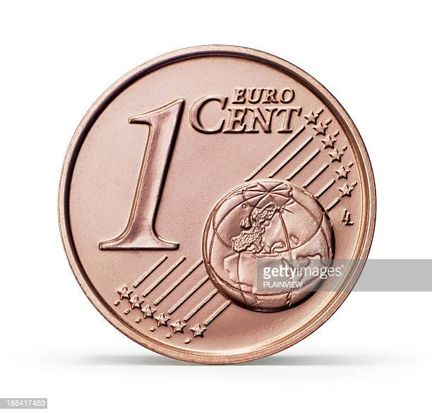 1 centime d'Euro monnaie (Tracé de détourage)