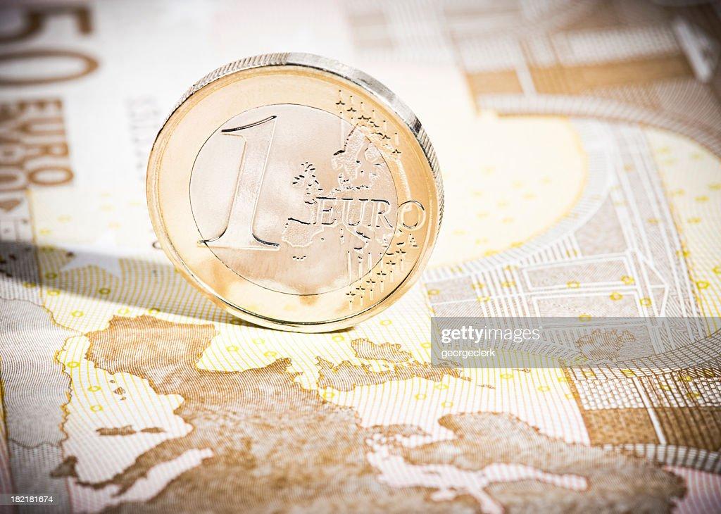 ユーロコインに 50 ユーロ)注マップ : ストックフォト