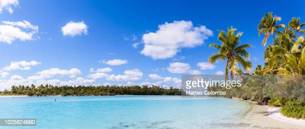 One Foot Island panoramic, Aitutaki, Cook Islands