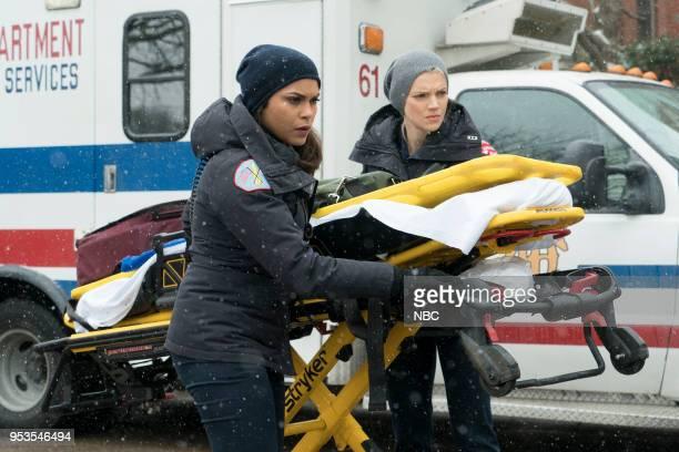FIRE 'One For The Ages' Episode 622 Pictured Monica Raymund as Gabriela Dawson Kara Killmer as Sylvie Brett