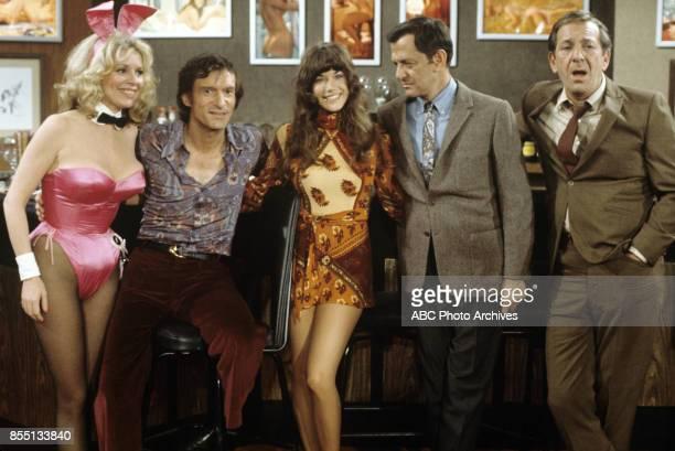 COUPLE One for the Bunny 3/22/74 Janis Hansen Hugh Hefner Barbi Benton Tony Randall Jack Klugman