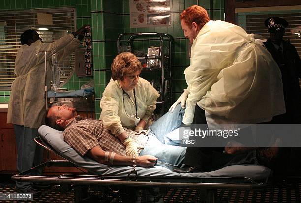 ER 'One for the Road' Episode 1 Air Date Pictured Brent Fletcher as Irritated Driver Renee Victor as Florina Lopez and Scott Grimes as Doctor Archie...