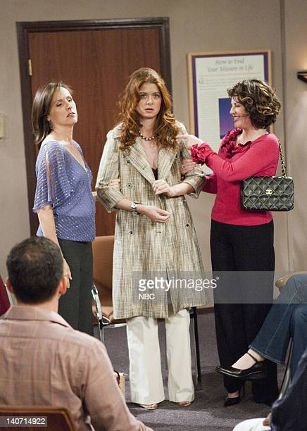 WILL GRACE One Gay at a Time Episode 3 Pictured Molly Shannon as Val Bassett Debra Messing as Grace Adler Megan Mullally as Karen Walker Photo by...