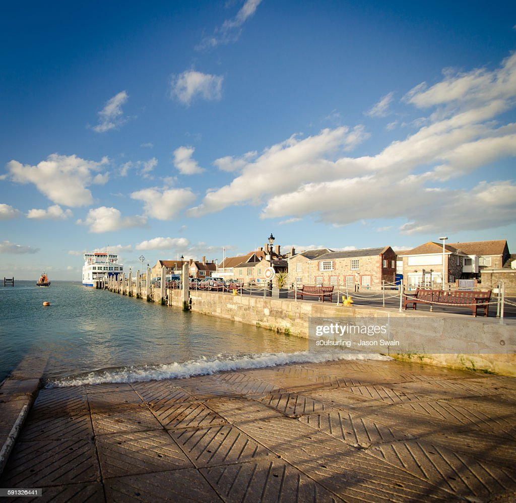 One golden evening in Yarmouth : Stock Photo