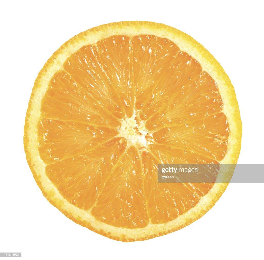 one half of orange : Stock Photo