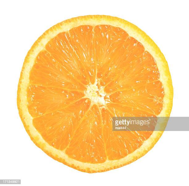 one half of orange - cross section stock pictures, royalty-free photos & images