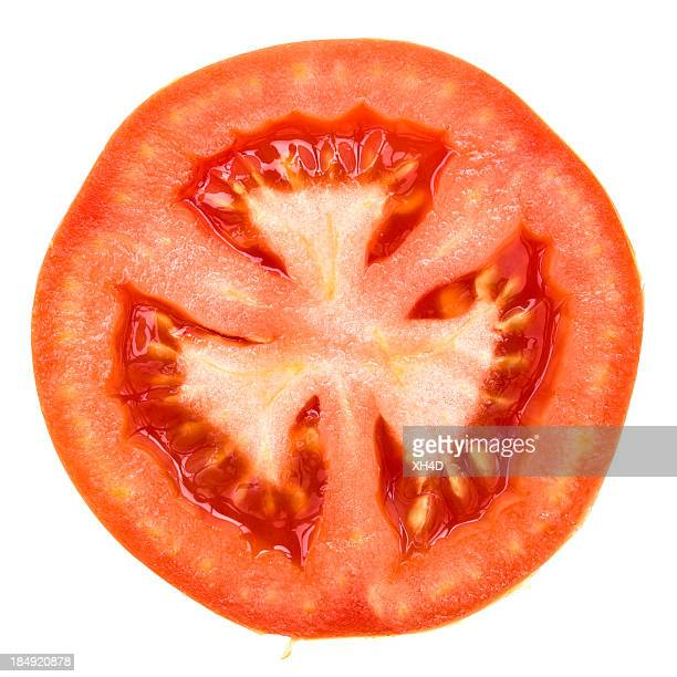 one half of tomato - cross section stock pictures, royalty-free photos & images