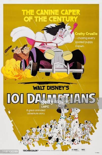 One Hundred And One Dalmatians poster Cruella De Vil 1961
