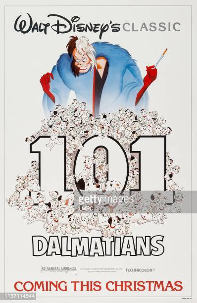 One Hundred And One Dalmatians poster US advance poster art Cruella De Vil 1961