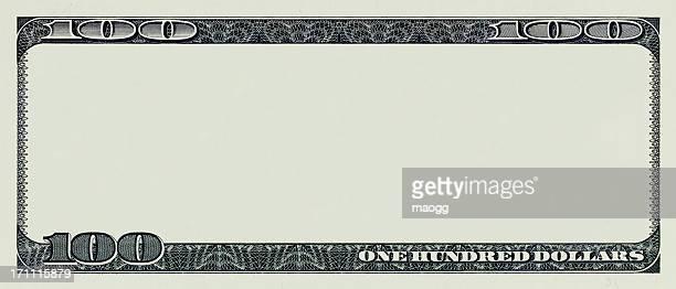 Billete de cien dólares sin algunas obras de arte originales
