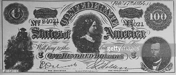 One hundred dollar confederate bill