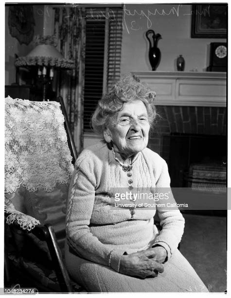 One hundred first birthday 16 March 1952 Mrs Margaret Watson 101 years