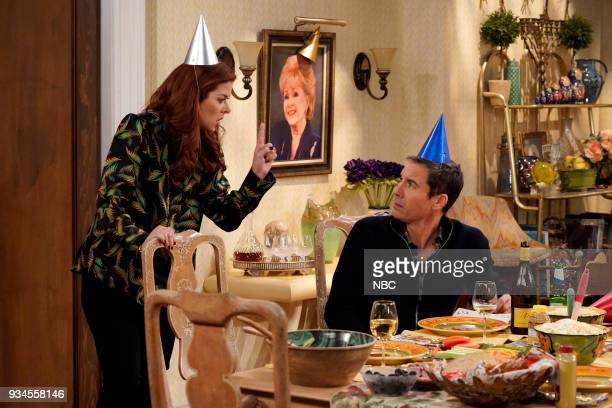 WILL GRACE 'One Job' Episode 111 Pictured Debra Messing as Grace Adler Eric McCormack as Will Truman