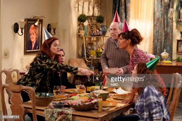 WILL GRACE 'One Job' Episode 111 Pictured Debra Messing as Grace Adler Eric McCormack as Will Truman Robert Klien as Martin Adler Sara Rue as Joyce...