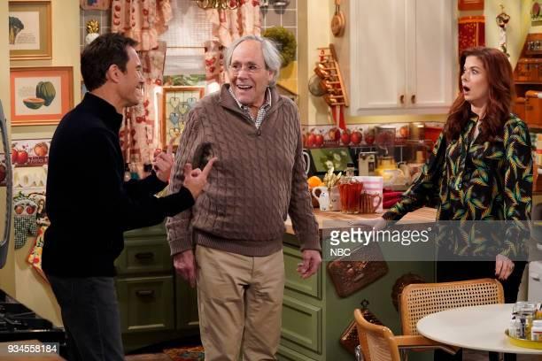 WILL GRACE 'One Job' Episode 111 Pictured Eric McCormack as Will Truman Robert Klien as Martin Adler Debra Messing as Grace Adler