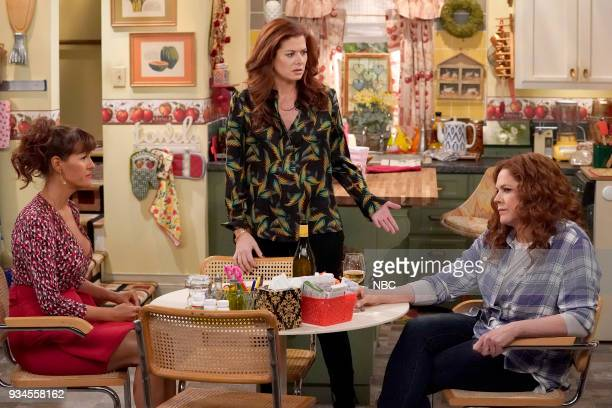 WILL GRACE 'One Job' Episode 111 Pictured Sara Rue as Joyce Debra Messing as Grace Adler Mary McCormack as Janet