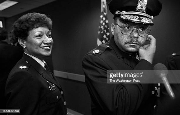 04/21/98 One Judiciary Square NW DC New DC Police Chief Charles H Ramsey is officially sworn in at an afternoon ceremony Pictured Chief Ramsey right...