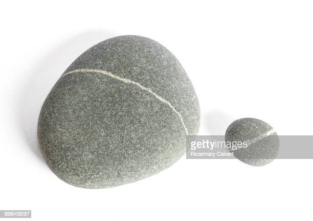 One large and one small granite pebble
