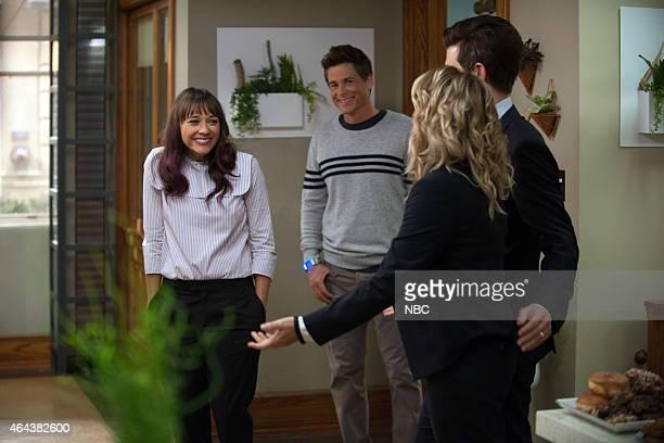 RECREATION One Last Ride Episode 712/713 Pictured Rashida Jones as Ann Perkins Rob Lowe as Chris Traeger Amy Poehler as Leslie Knope Adam Scott as...