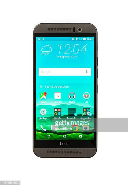 htc one m9 - high tech computer corporation stock pictures, royalty-free photos & images