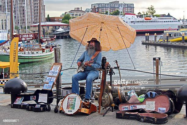 One Man Band on Victoria's Waterfront