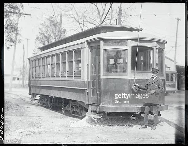 One man trolley lineFrom Chevy Chase Maryland to Kensington Maryland a distance of three miles Owned operated and supervised by one man Photo shows...