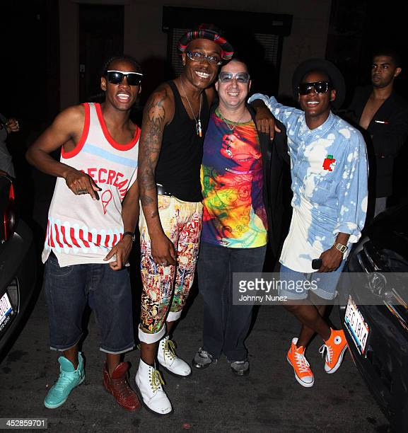 One member of the group Curtis Santiago Noah G Pop and Dee and Ricky attend the Michael Jackson The Remix Suite 1 album release party at The Eldridge...