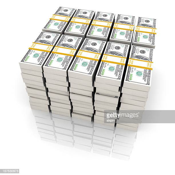 one million dollars on a white background  - millionnaire stock photos and pictures