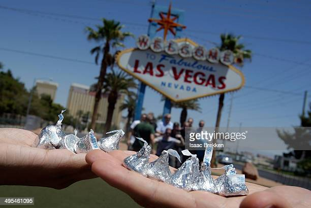 One million Kisses are distributed in Las Vegas to celebrate the opening of the new Hershey's Chocolate World retail experience at New YorkNew York...