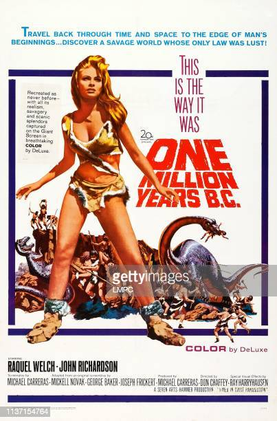 One Million Years poster BC US poster art Raquel Welch 1966
