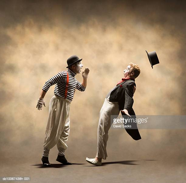 One mime yelling at another