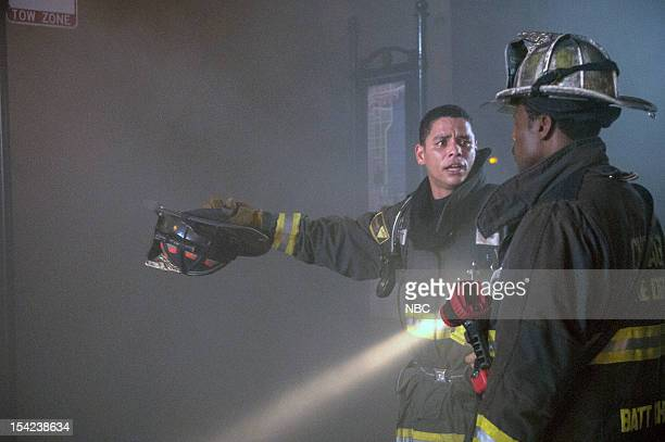FIRE One Minute Episode 104 Pictured Charlie Barnett as Peter Mills Eamonn Walker as Battalion Chief Wallace Boden