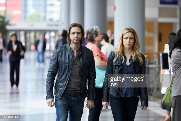 12 MONKEYS 'One Minute More' Episode 409 Pictured Aaron Stanford as James Cole Amanda Schull as Cassandra Railly