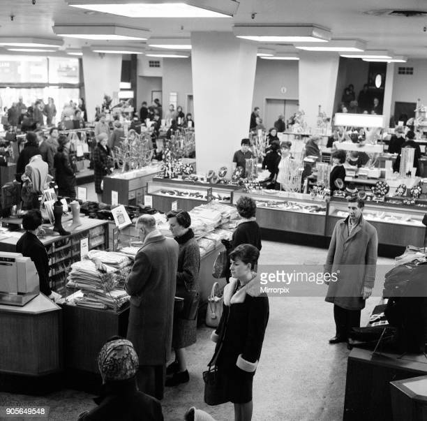 One Minutes Silence is held as a moment of remembrance for Sir Winston Churchill on the day of his state funeral at Owen Owen Department Store...