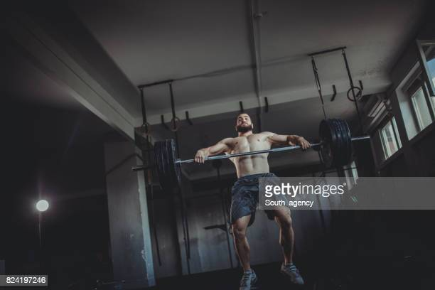 one more push - snatch weightlifting stock photos and pictures