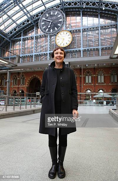 One More Time' by artist Cornelia Parker is unveiled at St Pancras International station on May 28, 2015 in London, United Kingdom. The piece has...