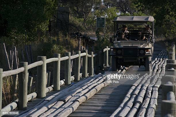 One near the gateway to the Okavango Delta camp near Khwai River Lodge by Orient Express in Botswana within the Moremi Game Reserve Wild bridges...