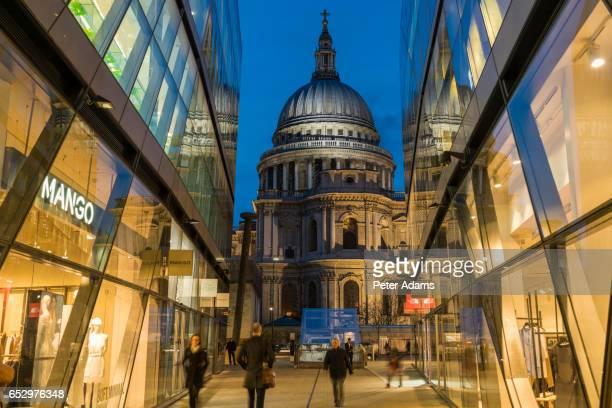 One New Change shopping & office development, St Pauls, London, UK