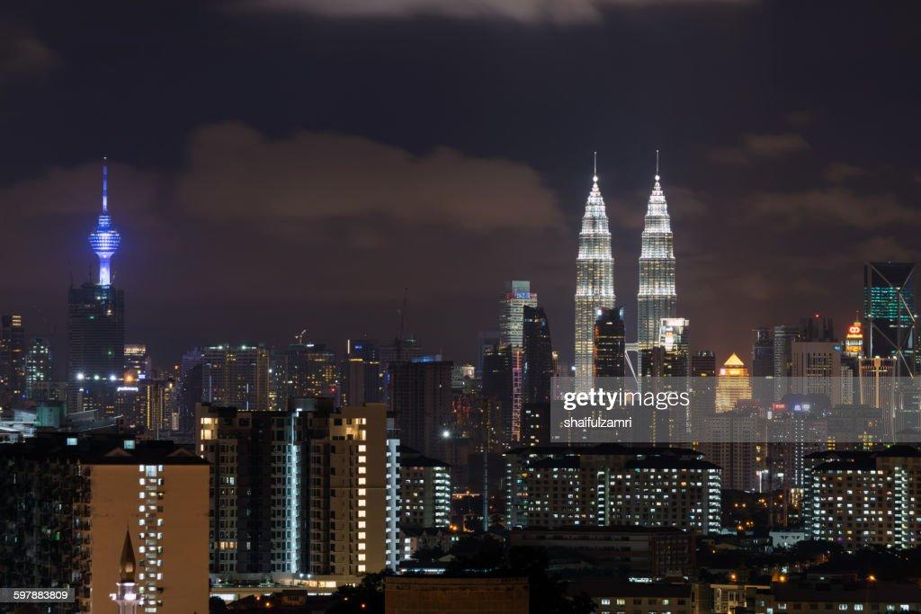 One night in Kuala Lumpur : Stock Photo