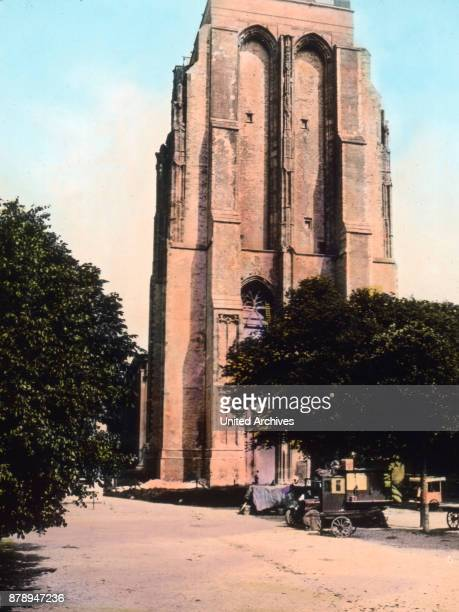 One notable old Gothic tower stands in the city of Leeuwarden in the province Friesland He bears the name of Oldehove One might almost there my be a...
