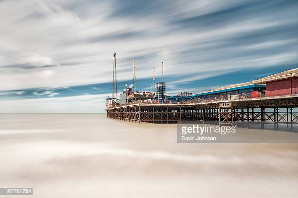 One of 3 piers on the coast at Blackpool. This is shot using a Neutral density filter, a ND110, to increase the length of exposure time, giving...