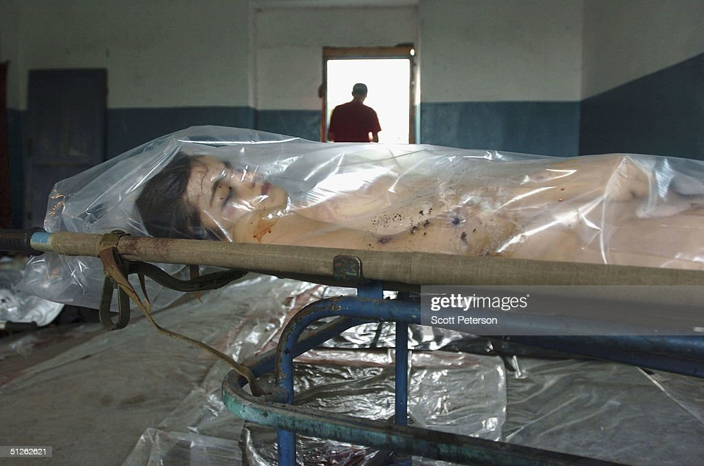 Relatives Identify Dead Children In The City Morgue of Vladikavkaz : News Photo