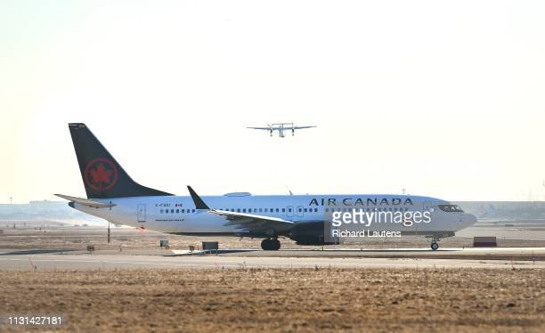 One of Air Canada's 24 Boeing 737 Max 8 aircraft readies for takeoff to West Palm Beach from Pearson Airport The planes have been banned in several...