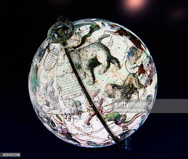 One of David Neikirk digital images of 1607 William Blaeu celestial globe at The Osher Map Library at the University of Southern Maine Tuesday...