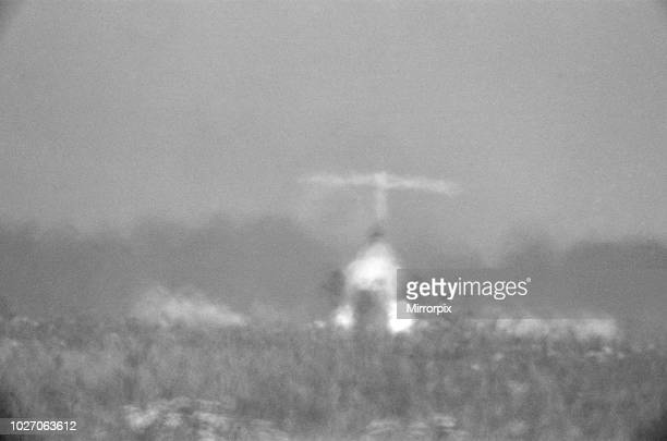 One of Four A Trident jet at Heathrow Airport takes off in the high heat of 25th June 1976 when temperatures reached into the 90 degrees The heat...