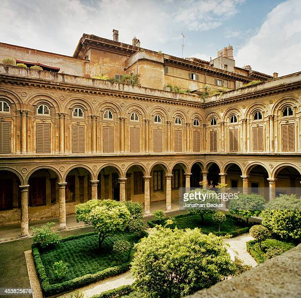 One of four courtyards in the Palazzo Doria Pamphilj is photographed for Vanity Fair Magazine on April 26 2011 in Rome Italy PUBLISHED IMAGE