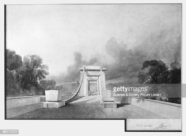One of Isambard Kingdom Brunel�s designs for Clifton Suspension Bridge at Bristol In 1830 Brunel aged only 24 won a competition to design a bridge to...